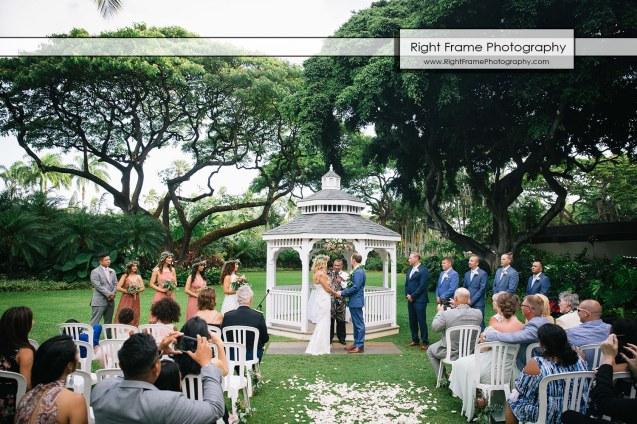 HALE KOA HOTEL WEDDING Pictures Waikiki Honolulu Hawaii gazebo