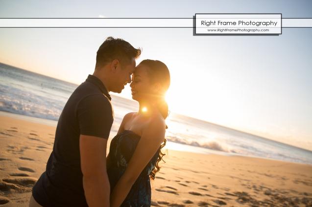 Engagement Pictures at Yokohama Bay Oahu Hawaii