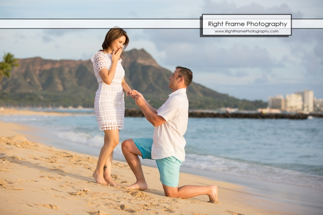 PROPOSAL MARRIAGE on WAIKIKI BEACH HAWAII
