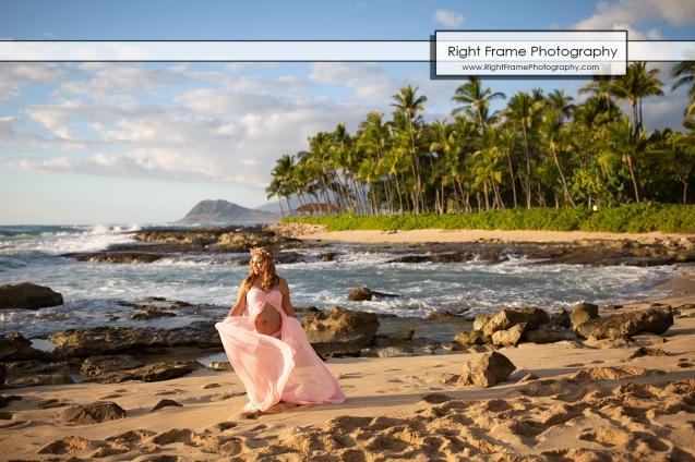 Hawaii Pregnancy Photoshoot at Ko Olina