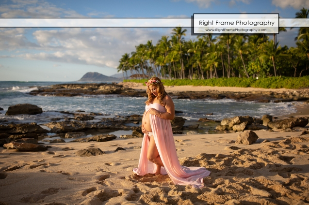 Hawaii Pregnancy Photoshoot at Ko Olina