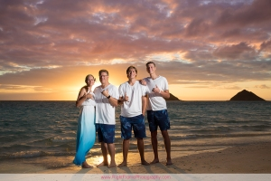 Sunrise Family Photos at Lanikai Beach