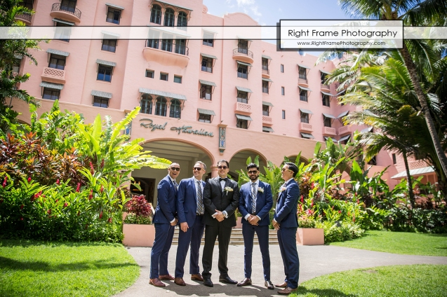 wedding in the royal hawaiian hotel