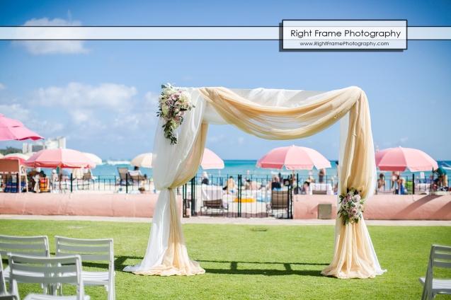 Hawaii wedding arch