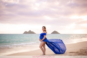 Oahu Sunrise Maternity Session at Lanikai Beach Kailua Hawaii