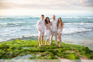 Sunset Family Pictures on North Shore Oahu